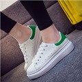 2017 новая мода классический толстые платформы женщин вулканизируют обувь удобная случайных белый шнуровке femen обуви