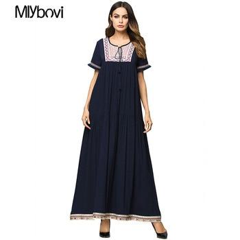 3ff97aab07c6b larga de Dubai marroquí Oriente túnica vestido ropa Musulmán culto Medio de  Paryer Maxi apliques Abaya ...