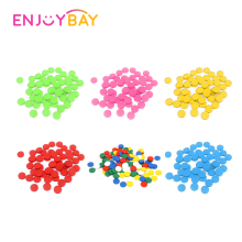 Enjoybay 100pcs Plastic Game Counters Toy 2.5cm Bingo Chips Markers for Family Club Party Kids Counting Numbers Math