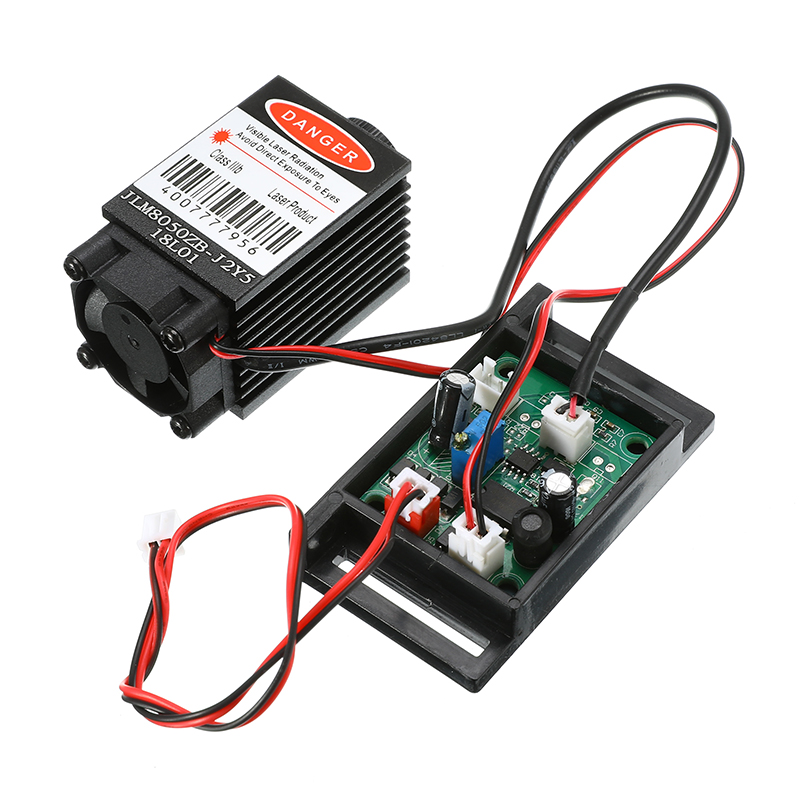 1PC Focusable 12V+ TTL+ Fan Cooling Laser Module 500mw 808nm Infrared IR Laser Diode Dot Module