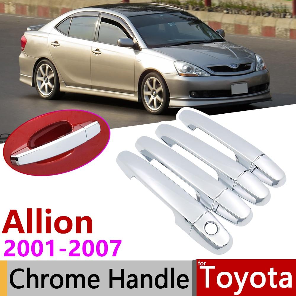 For Toyota Allion Premio T240 2001~2007 Chrome Door Handle Cover Car Accessories Stickers Trim Set 2002 2003 2004 2005 2006