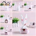 Cute Easter Bunny Cookies Bag 50pcs Wedding Decoration Kawaii Rabbit Ear Plastic Candy Bag Easter Decorations For Home