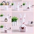 Lindo Conejito de Pascua Galletas Bolsa 50 unids Bolsa De Caramelos De Plástico Del Oído de Conejo de Pascua Decoración de La Boda Del Kawaii Decoraciones Para El Hogar