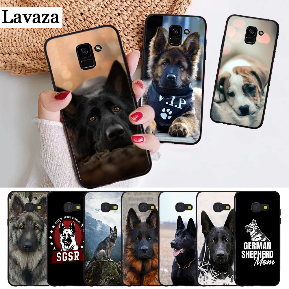 Lavaza German Shepherd Dog Customer Silicone Case for Samsung A3 A5 A6 Plus A7 A8 A9 A10 A30 A40 A50 A70 J6 A10S A30S A50S in Half wrapped Cases from Cellphones Telecommunications