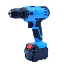 21V Tow-speed Cordless drill Rechargeable Lithium Battery electric drill bit  screwdriver power tool function + 27pcs accesories