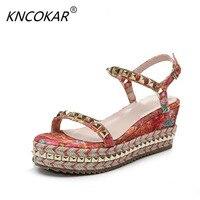 KNCOKAR2018, Новые стильные женские туфли продаются с парой сандалии на каблуках сандалии и Женские босоножки