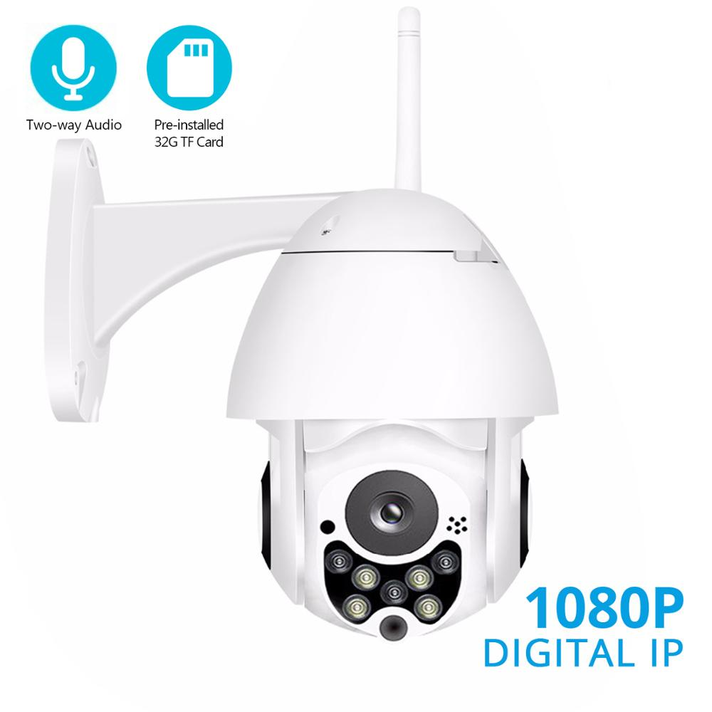 BESDER 1080P 720P PTZ IP Camera Outdoor Waterproof IP66 Speed Dome WiFi Security Camera Pan Tile