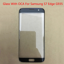 10pcs/lot Front Screen LCD Glass Lens With OCA Adhesive For Samsung S7Edge S7 Edge G935 SM-G935F Outer Glass oca film