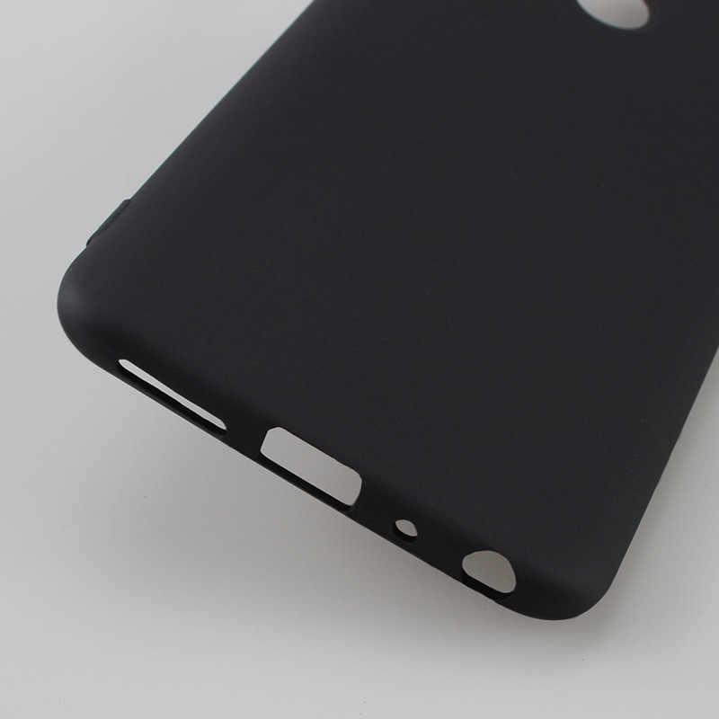 Hitam Matte Silikon Lembut TPU Case untuk Xiao Mi Mi 8 Se Mi A2 Lite A1 5X 6X Merah Mi 6 Pro 6A 5 Plus 5A Catatan 5 4 4X Pocophone F1 Cover