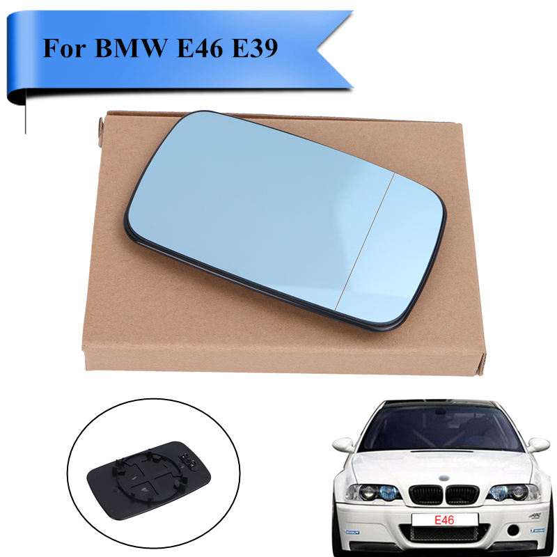 Left Side Heated Door Rearview Mirror Glass For Bmw E46