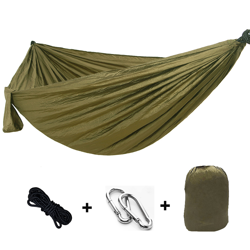 New Portable Hammock Outdoor Travel Furniture Garden Swing Chair Hunting Hanging Bed Dormitory Soft Bed Outdoor Camping Supplies