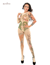 Women Sexy Lingerie Bodystocking With Asian Culture Worship Japan Exotic Totem Bodysuit Ancient Sculpture Sexual Arousal Costume