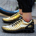 2017 Spring new blade sole men gold Silver shoes for men's athletic shoes the new trend of high quality shoes Zapatos de hombres