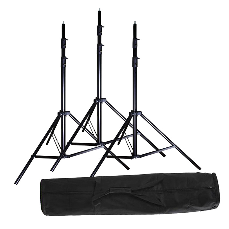 3x 2 8m 9 2ft Studio Heavy Duty Light Stand Carrying Bag Kit 280cm Tripod Set