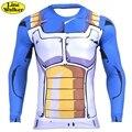 \ Line walker \ vegeta dragon ball z dos homens t shirt dos homens 3d Goku Gohan Super Saiyan t-shirt Top Projeto Apertado Traje Engraçado T-Shirt