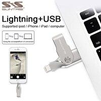 Suntrsi USB 3.0 Flash Drive for iphone ipad 8 7 6s MFI PenDrive 32GB 64GB High Speed Lightning Metal USB Stick Free Shipping
