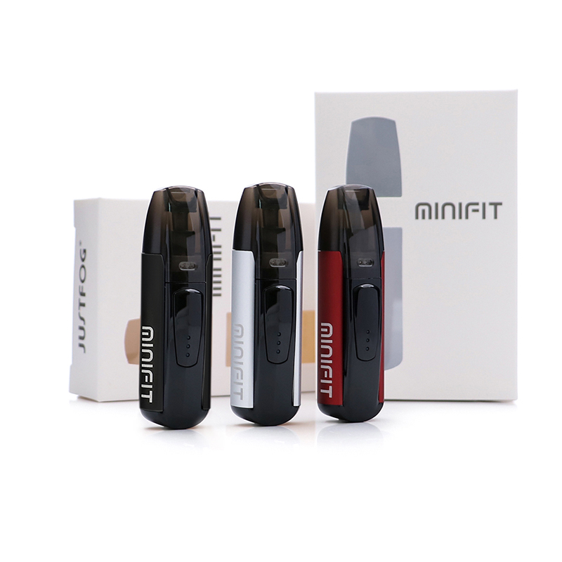 10 teile/los Original Justfog minifit Kit builtin 370 mah alle-in-einem vape kit als justfog q16 mit batterie kompakte pod vaping gerät