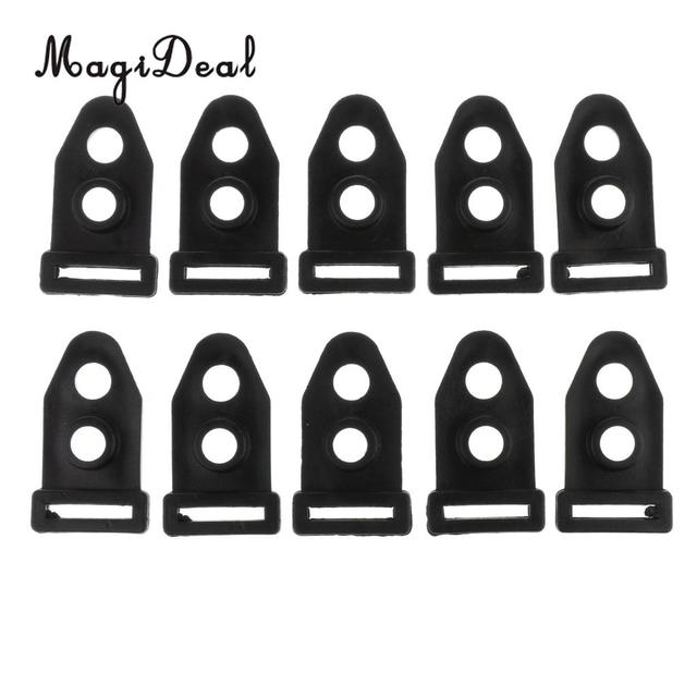 MagiDeal 10pcs Tent Clip Camping Tent Feet Clamp Accessories for Outdoor Black 4cm