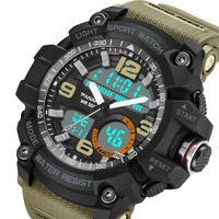 Sport Men Digital Watches G Style Water Resistant Backlight LED Wristwatches foe Man Stop Watch Alarm 8010