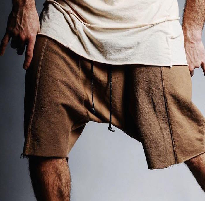 Hip Hop Raw Edges Wild Man Cozy Shorts