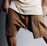 Kanye West Summer Men Multiple Spliced Solid Color Casual Shorts Streetwear Hip Hop Raw Edges Wild