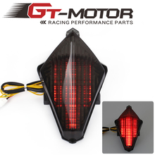 GT Motor Motorcycle Tail Light with Turn Signal Running Light Smoke Rear font b Lamp b