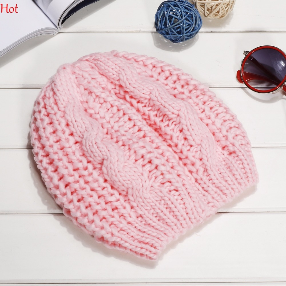 Womens Knit Beanie Beret Hat Winter Warm Crochet Ski Caps Elastic Knitted Cap Slouch Colors Black Red Pink Purple Hats SV000252 lovely 4 colors kids baby crochet knit cap knitting winter warm beret hat cap bb75