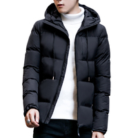 2017 Plus Size 4XL Winter Jacket Long Warm Outwear Hooded Softshell Male Coat Man Trench Coat Snow Cold Blue Gray Black Jacket