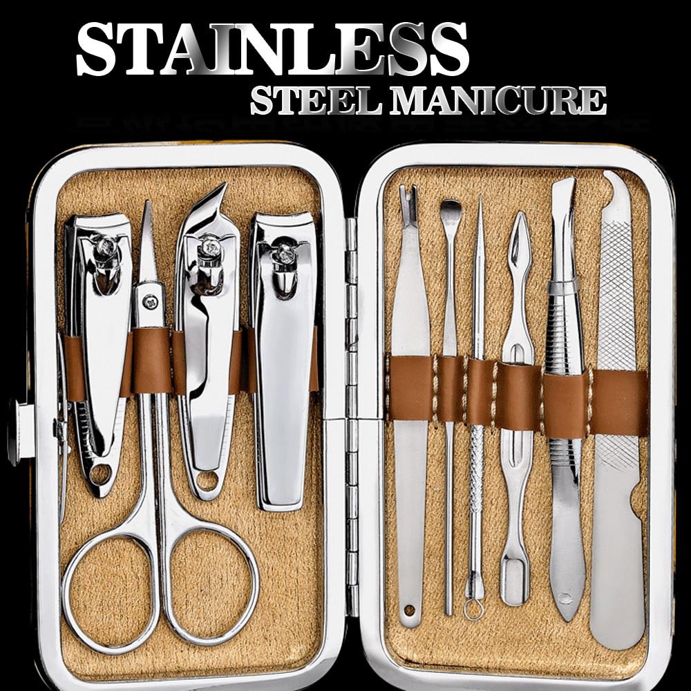 Nail Art Manicure Gereedschap Set Nagels Clipper Schaar Tweezer Mes - Nagel kunst - Foto 1