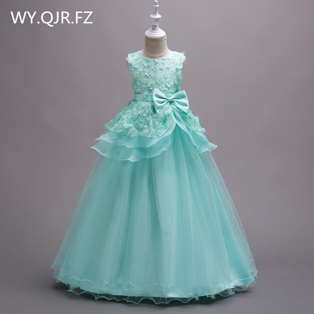 BH722#June 1 children's day performance Green Flower Girl Dresses Cheap children's wear wholesale Princess party prom dress