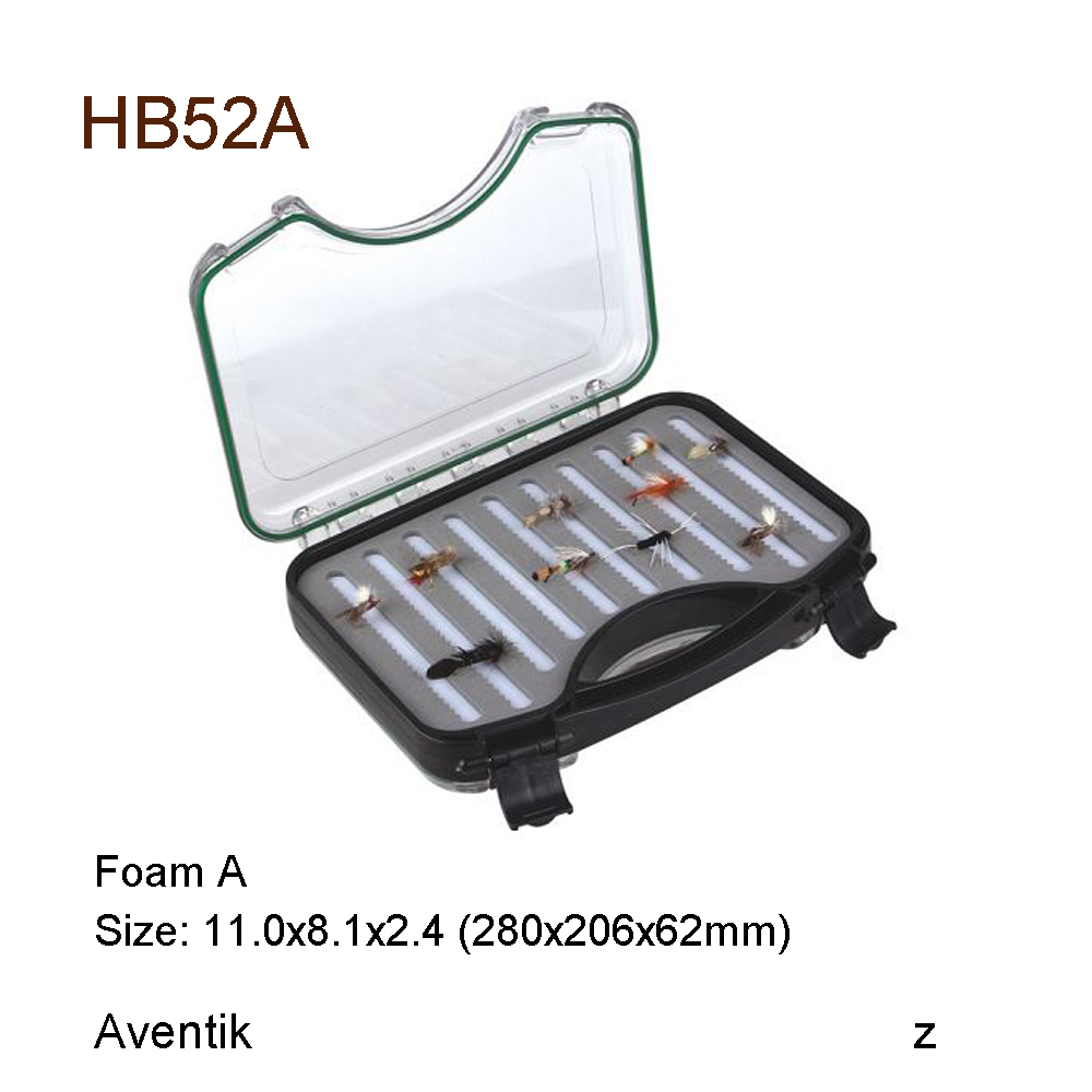 Aventik Plastic Waterproof fly fishing Double Side Clear Slit Foam fly Fishing Box FLY BOX Tackle Case Box free shipping