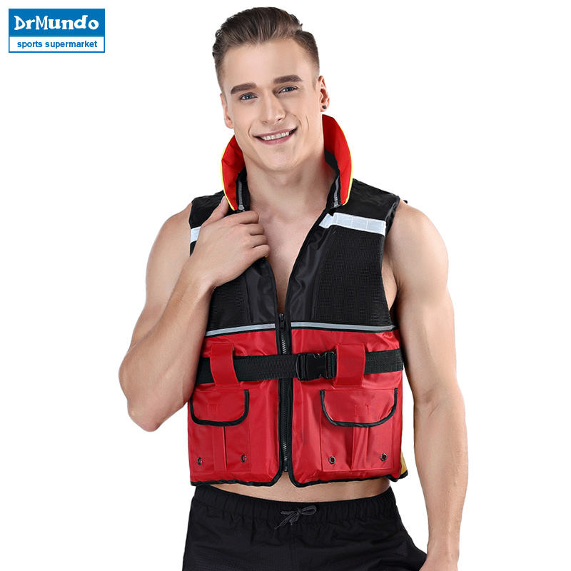 Hearty Adult Lifesaving Life Jacket Buoyancy Aid Boating Surfing Work Vest Clothing Swimming Marine Life Jackets Safety Survival Suit The Latest Fashion Camping & Hiking