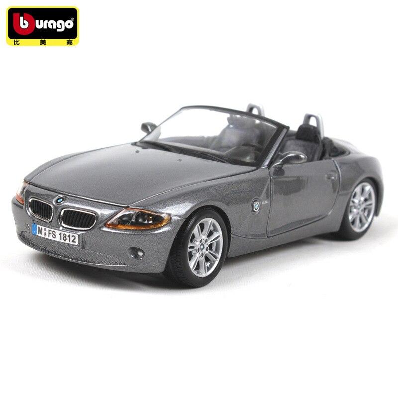 Bburago 1:24 масштабная модель полученная литьем под давлением металлический гоночный автомобиль модель игрушки для BMW Z4 Коллекция спортивных игрушечная машинка из сплава для детей подарок с Оригинальная коробка