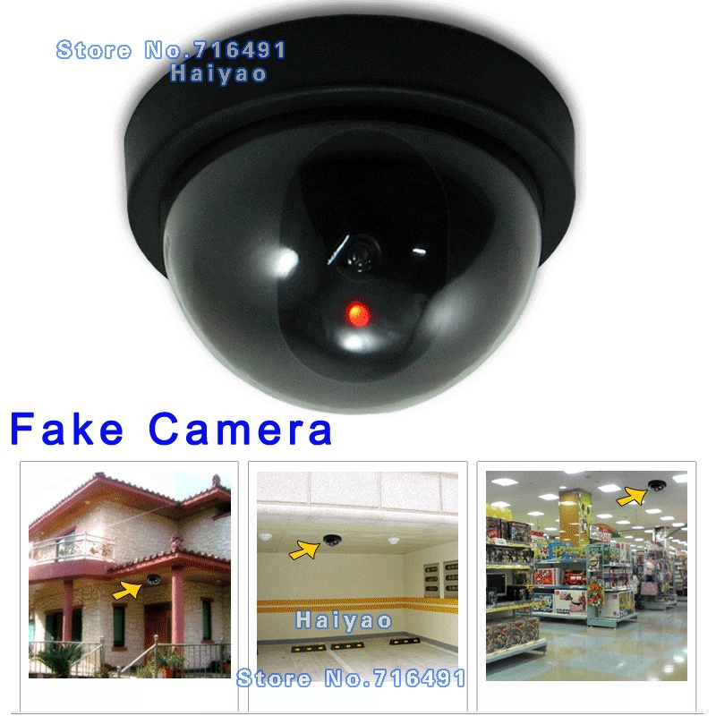 цена Emulational Fake Surveillance Security Decoy Dummy Dome CCTV DVR for Home Camera with flashing Red Led light Indoor Outdoor
