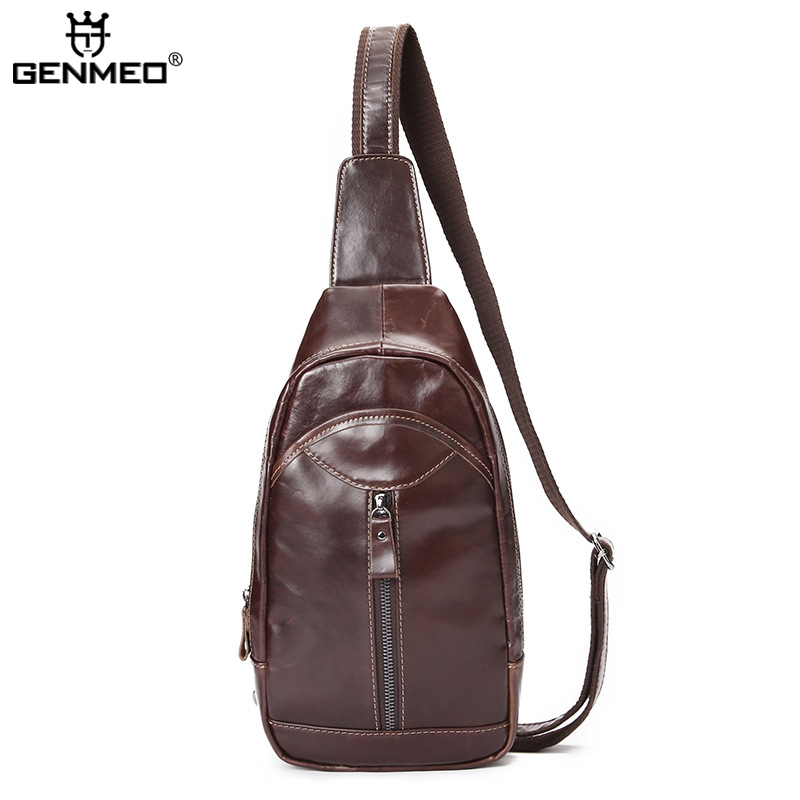 New Stylish Vintage Genuine Leather Body-Cross Single Shoulder Bags Men Cow Leather Messenger Bag Retro Real Leather Tote bags