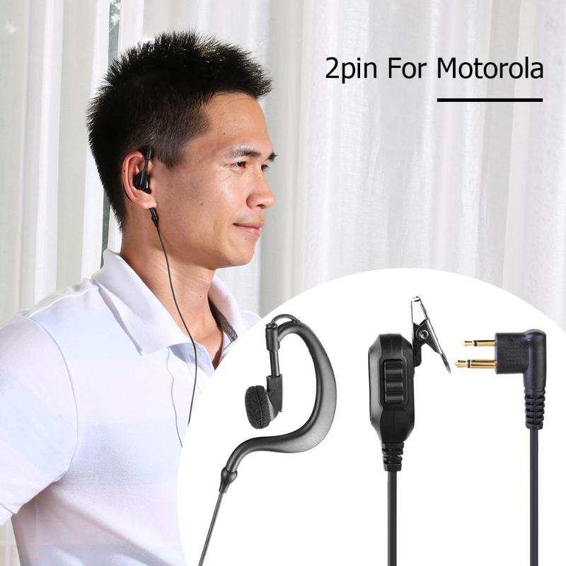 G Shape 2 Pin M-type Earphone Earpiece W/PTT For Motorola/HYT Walkie-talkie Radio Earphones
