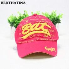 1a4a7bed2acd5 Berthatina casual bat gorra de béisbol algodón lettet SnapBack hat Cap  exterior sombreros hip hop equipado