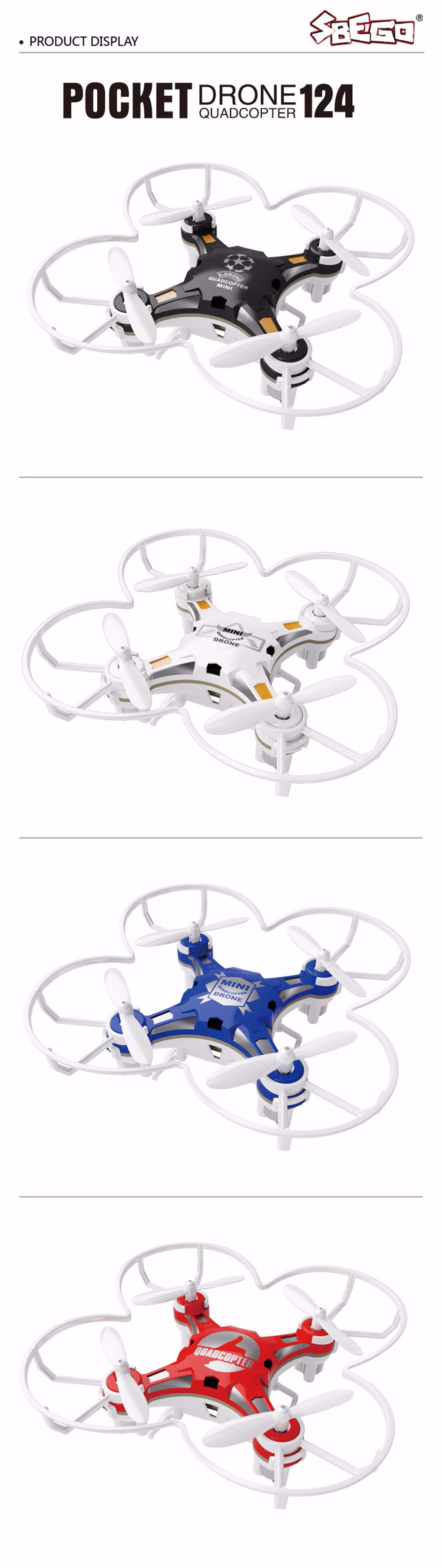 SBEGO FQ777-124 Mini Drone Micro Pocket 4CH 6Axis Gyro Switchable Controller RC Helicopter Kids Toys VS JJRC H37 H31 Quadcopter 14