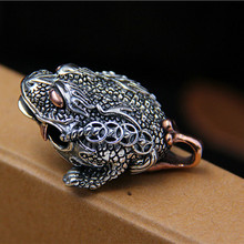 где купить Fashion 925 Sterling Silver The Money Toad Charms Pendants For Necklace DIY Jewelry Making по лучшей цене