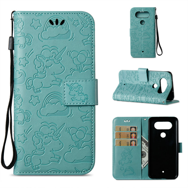 Horse Cloud Flip Cover for LG Q8 Case Coque LG Q6 Cases Wallet Stand Card Slot for LG Q8 / Q6 / Q 6 / Q 8 Cover Smartphone Cases ...