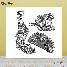 ZhuoAng Ethnic Minority Woman Clear Stamps/Seals For DIY Scrapbooking/Card Making/Album Decorative Silicone Stamp Crafts