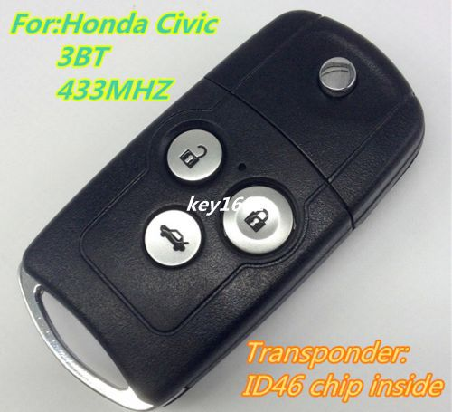 Car key for flip folding remote control 434mhz for car for Program honda civic key