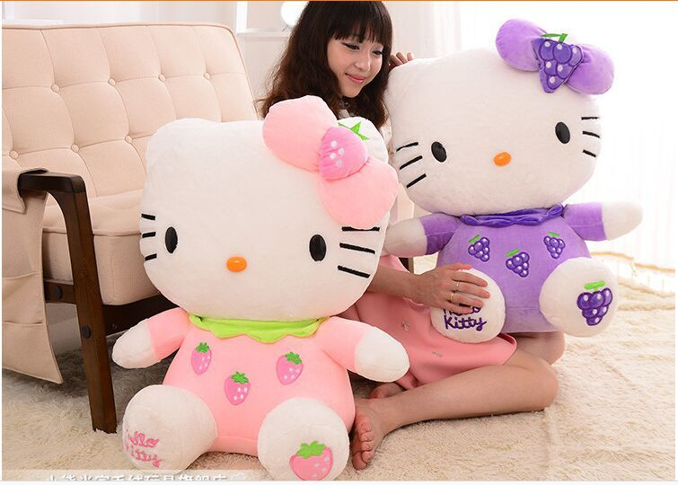 huge 80cm toy fruit hello kitty plush toy hugging pillow Toy birthday gift w0772 new stuffed animal blue hello kitty about 80cm plush toy 31 inch soft toy birthday gift wh094