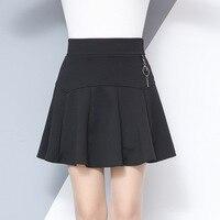2018 Spring Summer Women Pleated Skirt Korean Fashion Slim Pendant Stretch High Waist Skirt Plus Size
