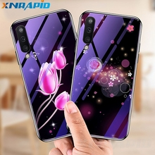 For samsung Galaxy A10 20 30 50 A70 beautiful silicone frame case new 7H hard tempered glass