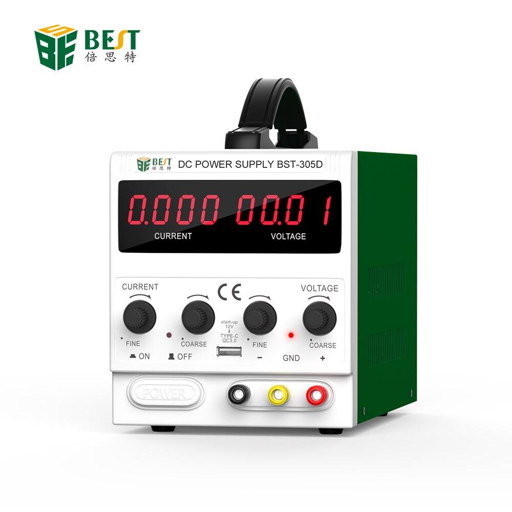 Meilleur 305D nouveau 30 V 5A AC DC alimentation à découpage réglable alimentation LED avec Ports USB outils de réparation de téléphone portable