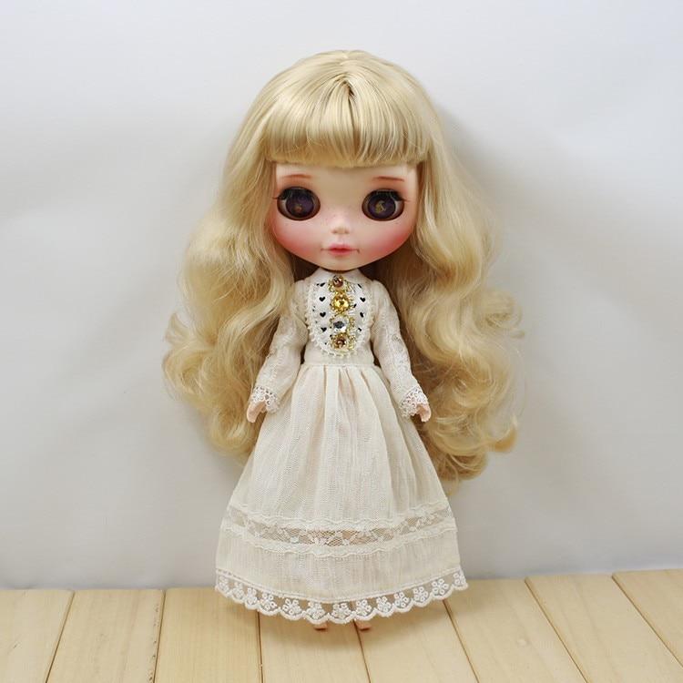Neo Blythe Doll Retro Mosaic Jewelry Dress 5