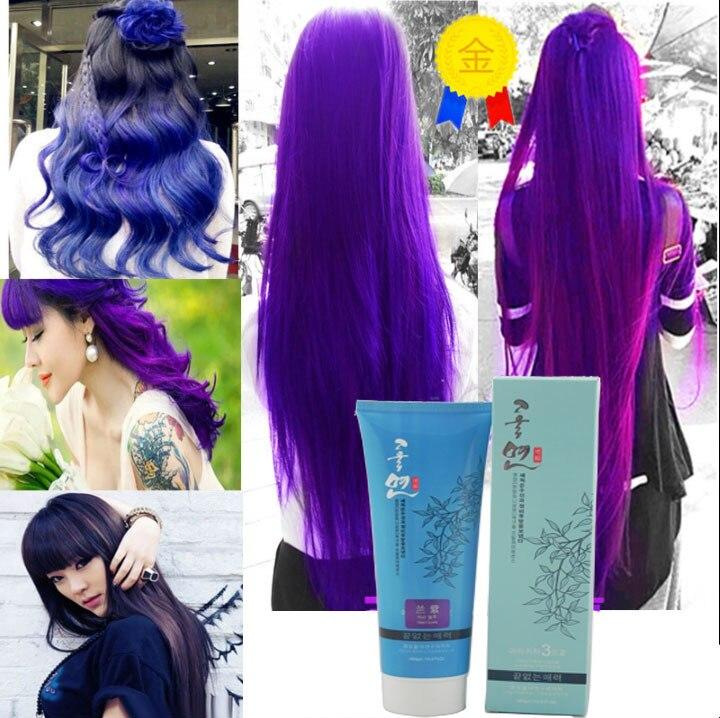 Colore dei capelli della perla acido pastelli gesso viola crema di cura di cura dei capelli per capelli multicolore tinture per capelli
