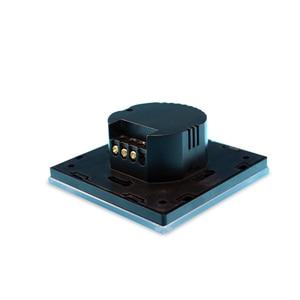 Image 3 - 新到着 Wallpad EU 英国 110 V 220 V 2 ギャング 2 ウェイ 3 方法位置白ガラスパネルタッチボタン壁ライトスイッチ電源