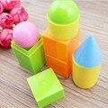 Formas geométricas sólidos oyuncak materiais montessori brinquedos para crianças brinquedo educativo brinquedos juguetes bebê matemática educativo